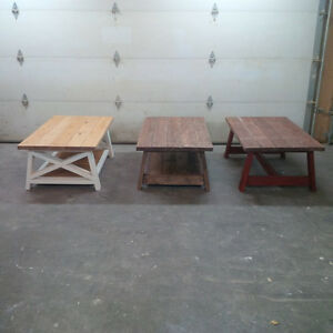 Rustic Coffee tables - Custom size & colors