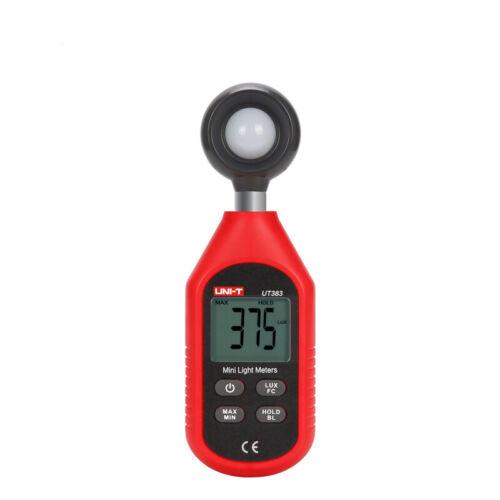UNI-T UT383 Digital Luxmeter Light Meter Luminometer Photometer 0~199,900Lux Tes
