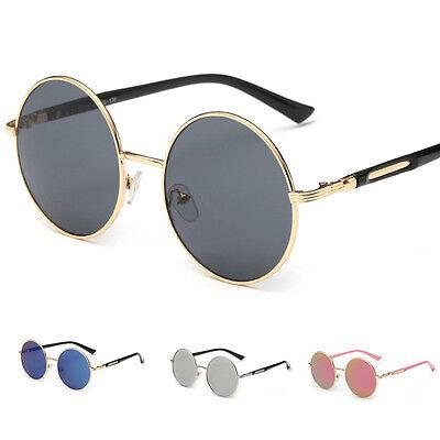 Punk Round Frame Mirror Sunglasses Womens Vintage Eye Glasses Eyewear Shades