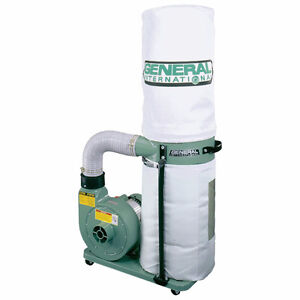 1HP General Dust Collector with steel pipe and elbows