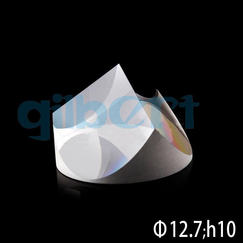 Optical Glass Pyramid Prism K9 12.7mmx10mm Physics Refractor Light Spectrum