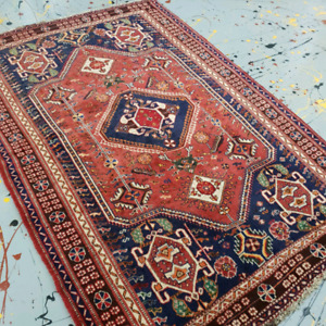 Antique Persian Rug , Professionally washed and restored