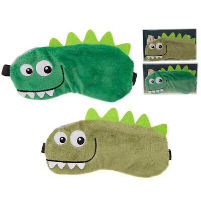 Dinosaurier Schlafbrille flauschig weich Schlafmaske Augenmaske  NEU ()
