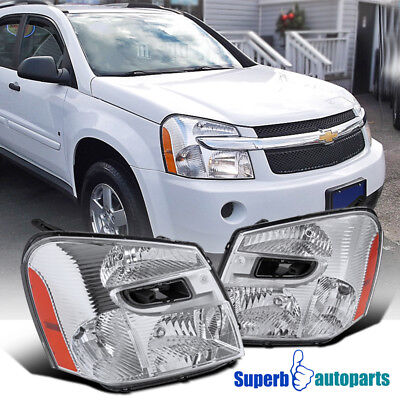 Chevrolet Equinox Replacement Headlight - 2005-2009 Chevy Equinox Replacement Headlight Crystal Clear Head Lamp Left+Right