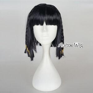 Braid Style Princess Cleopatra Wig Ladies Egyptian Fancy Dress Women Black Hair
