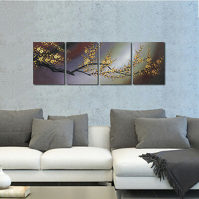 Canvas Print Paintings Pictures Home Decor Wall Art Floral Plum Blossom -
