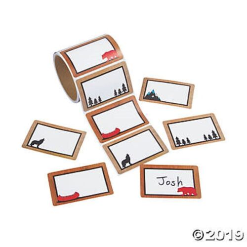 Adventure Wildlife Name Tags Roll of 100 Stickers Organizing Labels Adhesive