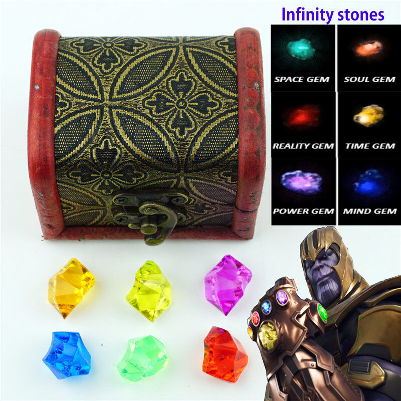 Infinity stones Set Of All 6 Gems Toy Cosplay Props New3