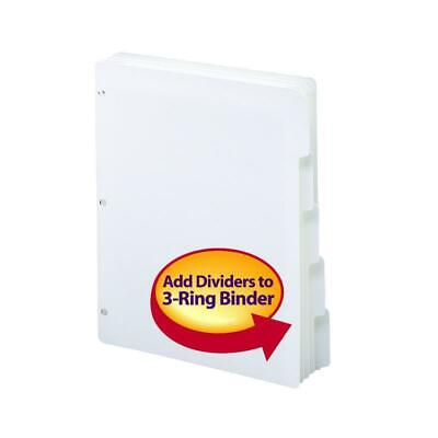 Smead Three-ring Binder Index Dividers 15-cut Tabs Letter Size White Box Of