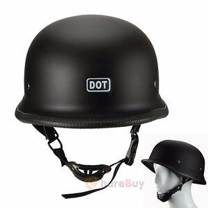 Matte Black German style helmet