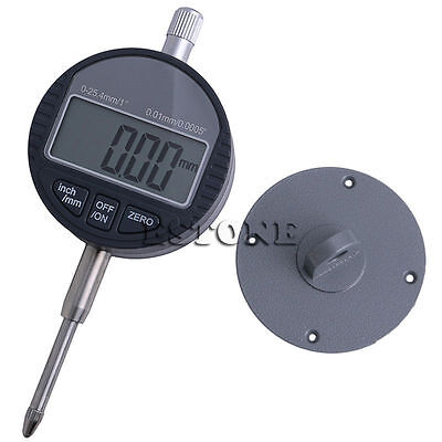 0.01mm0.0005 Range 0-25.4mm1 Gauge Digital Dial Indicator Precision Tool