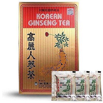 Original Korean Ginseng Tea 3g 100 Packets w/ Korean Red Ginseng Tea 3 Packets ()