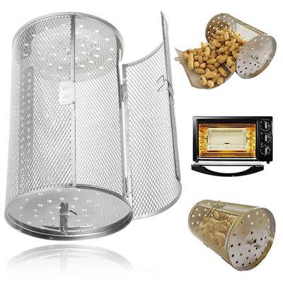 Oven Roaster Steel Tumble Peanut Beans Basket BBQ Rotisserie Grill