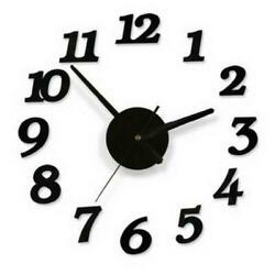 Modern Large Number Wall Clock Watch Decal Sticker Home Living Room Office Decor