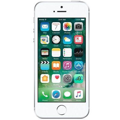 "Apple iPhone SE (64GB) Mill Unlocked Phone 12MP LTE 4"" HD iOS - Silver"