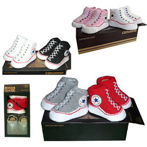 CONVERSE ALL STAR BABY INFANT SLIP ON SOCK BOOTIES GIFT