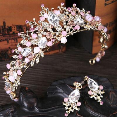 Pearl Bridal Crown Handmade Tiara Bride Headband Crystal Wedding Queen Crown UK