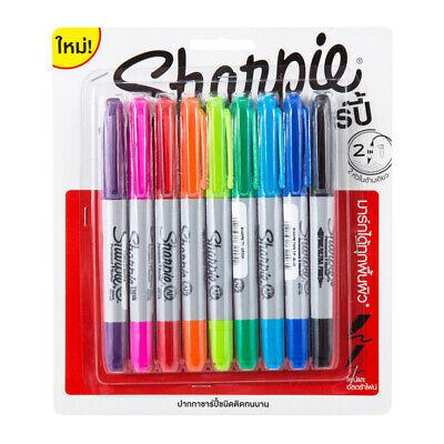 Sharpie Twin Headed Tips Permanent Marker Pen Ultra Fine Assorted 9 Colors