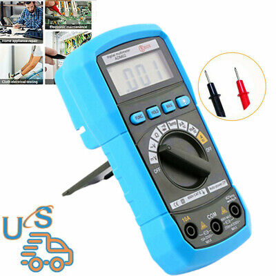 Digital Multimeter True Rms 2000 Counts Fully Auto Range Kit With Pair Test Lead