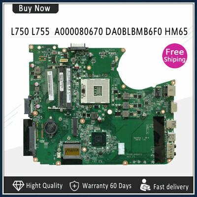A000080670 DA0BLBMB6F0 For Toshiba Satellite L750 L755 Laptop Motherboard segunda mano  Embacar hacia Argentina