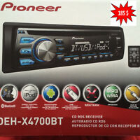 Pioneer Bluetooth ,USB, AUX IPOD, IPHONE ...,Garante un ans