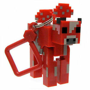 Minecraft series 2 mooshroom keyring key ring bag hangers for Porte and minecraft