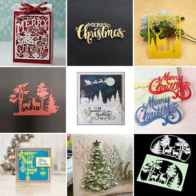 Christmas Tree Elk Series Metal Cutting Dies  Scrapbooking Paper Cards Stencil ()