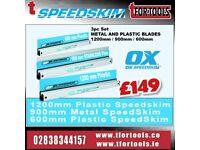 OX SPEEDSKIM DEAL - ST600 600MM & ST1200 1200MM PLASTIC + SUPERFLEX SF900 900MM METAL