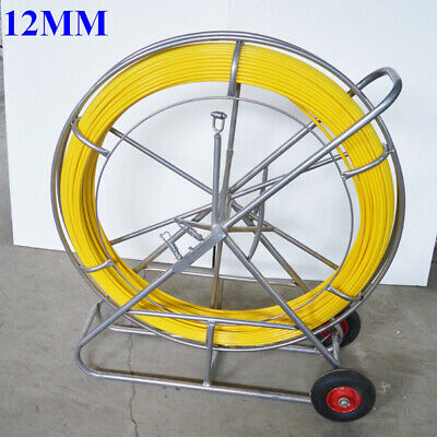 12mm250m Fish Tape Fiberglass Wire Cable Running Rod Duct Rodder