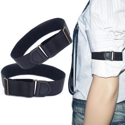 1 Pair Men Shirt Sleeve Garter Arm Band Adjustable Armband Hold Up Bartender - Bartender Armband