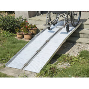 8 ft Foldable Portable Wheelchair Ramp Scooter Mobility Carrier