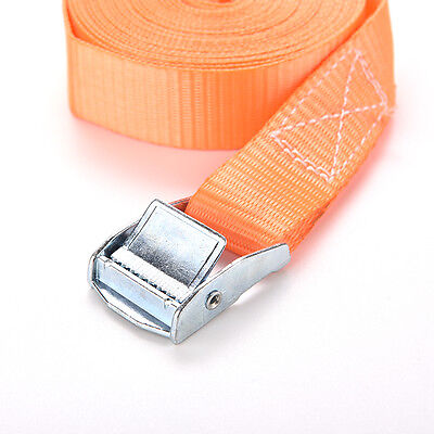 Nylon Cargo Tie down Luggage Lash Belt Strap with Metal Cam Buckle 1m x 25mm ZX