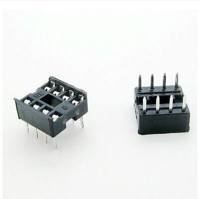 20 Pcs 8 Pin Dip8 Integrated Circuit Ic Sockets Adapters Solder Type