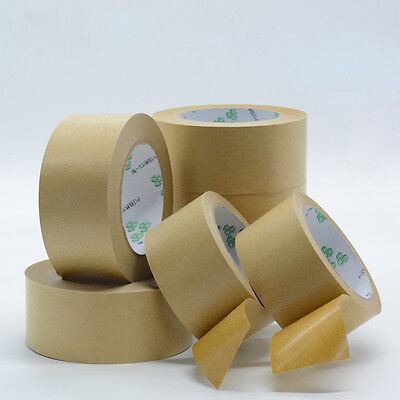 23m Free Water Reinforced Brown Kraft Paper Tape For Carton Shipping Packaging
