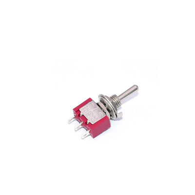 10pcs Toggle Switch 6mm Mounting 3 Pins 3 Position On-off-on Ac 125v5a 250v2a