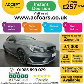 image for 2015 GREY MERCEDES CLA220 2.1 CDI AMG SPORT AUTO COUPE CAR FINANCE FR £257 PCM