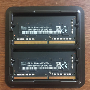 2X 4GB DDR4 2400MHz 260pin RAM chips