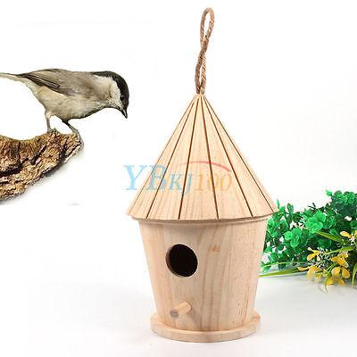 Wooden Bird House Birdhouse Hanging Nest Nesting Box Home Garden Decoration New