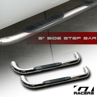 "For 1994-2000 Chevy/GMC C10 C/K Regular 2Dr 3"" Chrome Side Step Nerf Bars Boards"