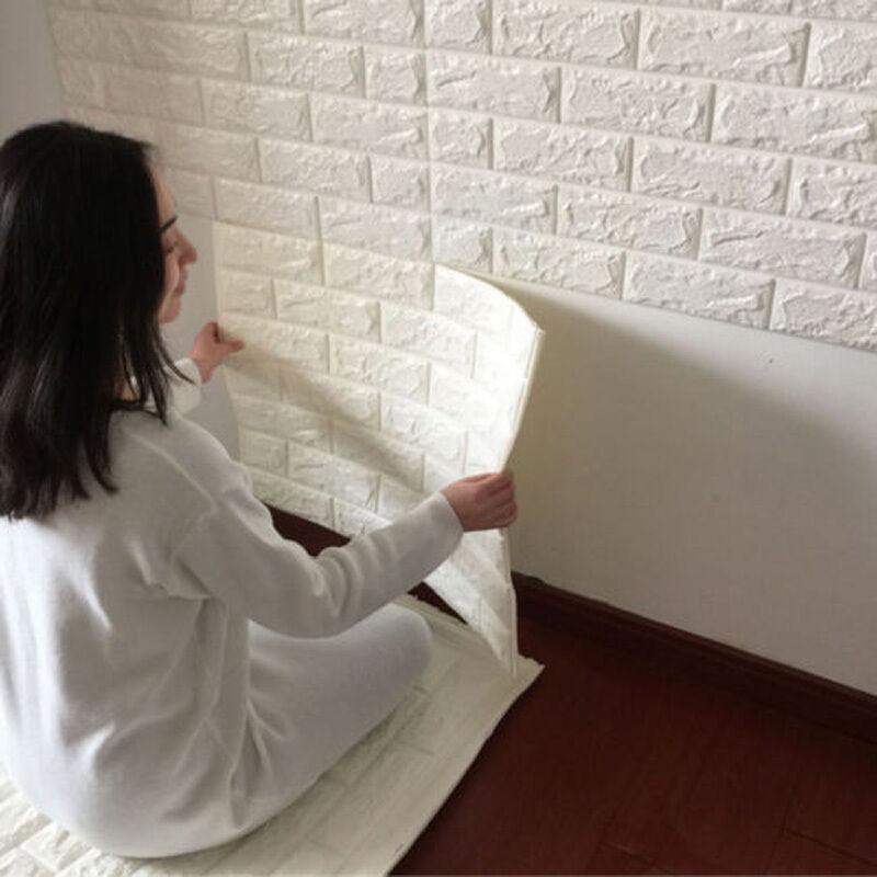 3D SPUGNA Mattone di pietra autoadesivo carta da parati PANNELLI sfondo