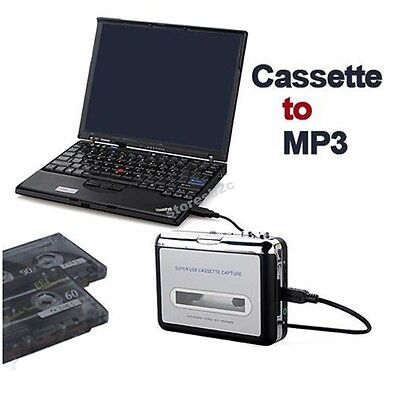 E006 Tape to PC Super USB Cassette-to-MP3 Converter Capture Audio Music Player