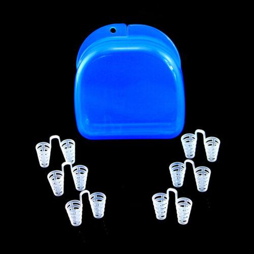 6pc Medium Reusable Nose Dilators Vents Anti Snoring Device