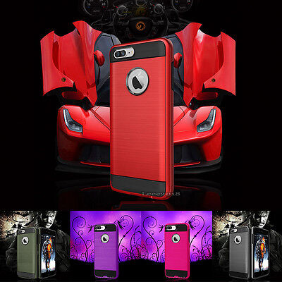 Heavy Duty Hybrid Rugged Shockproof Case iphone 7 & 8 plus With Screen Protector