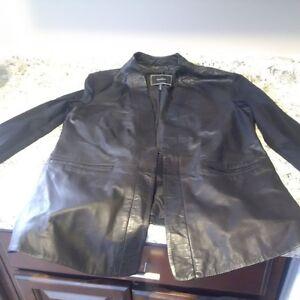 Le Chateau Leather Coat