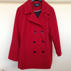 Beautiful Red Peacoat – Size 1 X – Perfect Condition