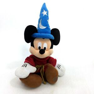 "Sorcerer Mickey Mouse Plush 25"" Fantasia Stuffed Animal Disney"