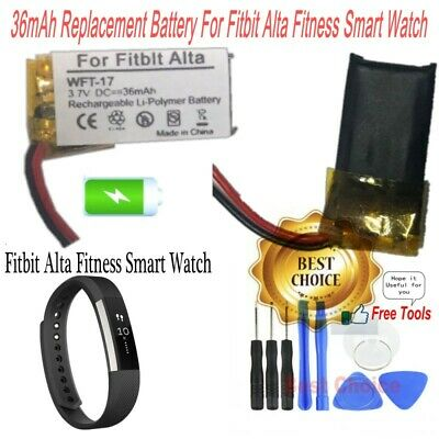 Rechargeable 36mAh Battery for Fitbit Alta Fitness Smart Watch