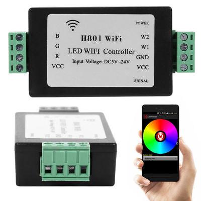 H801 Plástico RGB LED Tira Luz Internet Wifi Control Atenuador Android WLAN L60 segunda mano  Embacar hacia Mexico