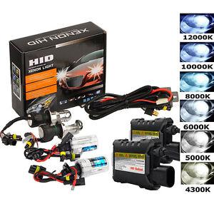 55W-Xenon-HID-Conversion-De-Faros-Motor-Bombilla-Coche-Kit-H1-H3-H7