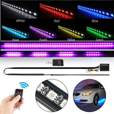 22 inch 7Color 48 LED RGB Scanner Flash Car Strobe Knight Rider Set Light Strip Knight Rider Scanner